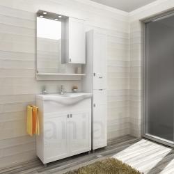 Мебели за баня ДЪБЛИН, различни размери, ДЕСЕН, комплект долен шкаф с мивка и горен шкаф с огледало, без колона