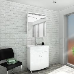 Мебели за баня САХАРА 60 см., комплект долен шкаф с мивка и горен шкаф с огледало
