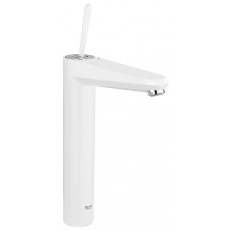 Смесител за мивка GROHE  EuroDisc Joystick XL-size, бял, с изпразнител
