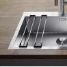 Решетка за кухненски мивки BLANCO TOP-Rails 400 от неръждаема стомана, 2 части, за мивки с широчина на коритото 40 см.