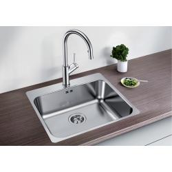 Кухненска мивка BLANCO SUPRA 500 -IF/A от неръждаема стомана, за монтаж над плот