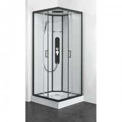Хидромасажна душ кабина SKY 2 CL74, 90х90, ъглова, затворена, черен профил
