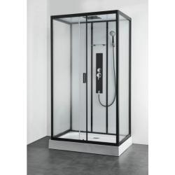 Хидромасажна душ кабина SKY 3 CL75, 80х120, ъглова, затворена, черен профил
