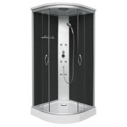 Хидромасажна душ кабина PUNTO CL07, 90х90, ъглова, затворена, черна