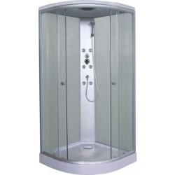 Хидромасажна душ кабина PUNTO CL01, 90х90, ъглова, затворена, бяла