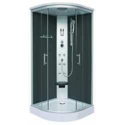 Хидромасажна душ кабина LYDIA CL77, 90х90, ъглова, затворена, черна
