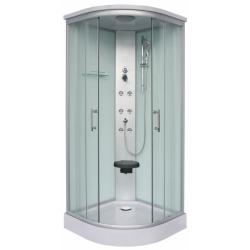 Хидромасажна душ кабина RUMBA CL88, 90х90, ъглова, затворена, бяла