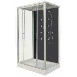 Хидромасажна душ кабина ROXANA CL129, 90х120, ъглова, затворена, чернa