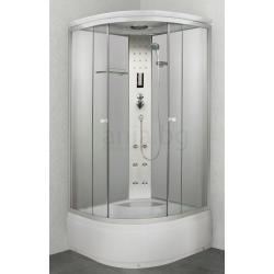 Хидромасажна душ кабина PR55, 90х90, ъглова, затворена, с високо корито, бяла