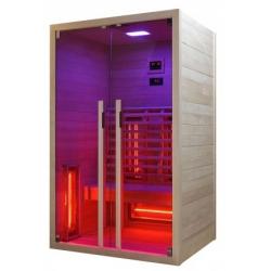 Инфрачервена сауна RUBY 2 F20120 с инфрачервени нагреватели, за 2 човекa