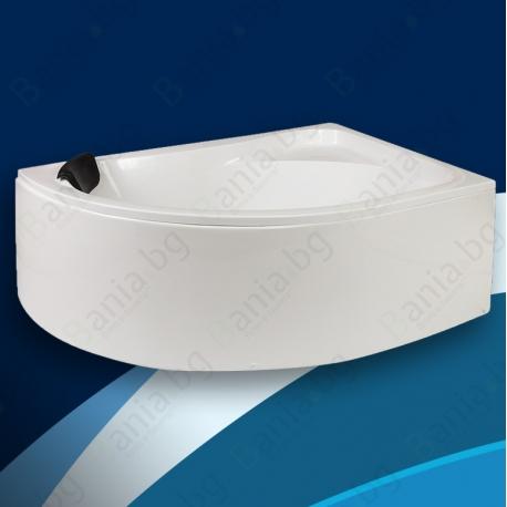 Хидромасажна вана НИКО 150х100 см., ниво С, ъглова, асиметрична