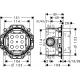Комплект за вграждане HANSGROHE CROMETTA, за душ, смесител външна и вътрешна част, кръгла душ пита 240 мм с рамо, ръчен душ