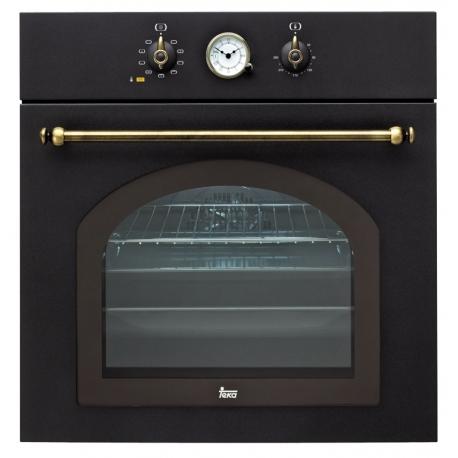 Фурна за вграждане TEKA HR 750 с 9 режима на готвене, антрацит/месинг, кънтри стил
