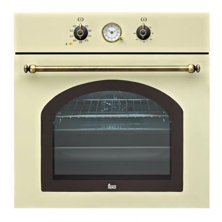Фурна за вграждане TEKA HR 750 с 9 режима на готвене, бежова/месинг, кънтри стил