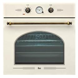 Фурна за вграждане TEKA HR 650 с 9 режима на готвене, бял крем/месинг, кънтри стил
