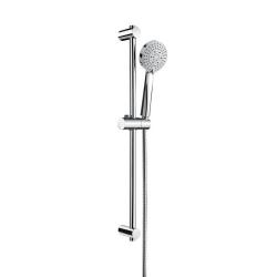 Комплект ръчен душ ROCA Stella 100 mm, с тръбно окачване 700 mm, 3 функции