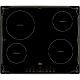 Индукционен стъклокерамичен плот за вграждане TEKA IBR 6040 с 4 зони, черен, рустикален стил