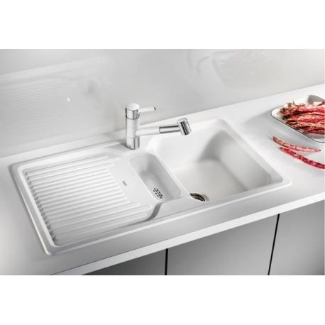 Мивка за кухня BLANCO CLASSIC 5 S SILGRANIT ™ - цвят Бял, от синтетичен гранит