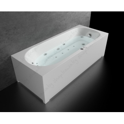 Хидромасажна вана СМАРАГД ПРЕМИУМ ФЛАТ, правоъгълна, различни размери, с нагревател, с нагревател