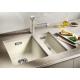 Мивка за кухня BLANCO SUBLINE 320 U SILGRANIT ™ - за под плот, Жасмин, от синтетичен гранит