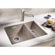 Мивка за кухня BLANCO SUBLINE 340/160 U SILGRANIT ™ - за под плот, с две корита, Трюфел, от синтетичен гранит