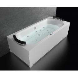 Хидромасажна вана САРАНДА ПРЕМИУМ ФЛАТ, правоъгълна, различни размери, с нагревател, за двама