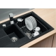 Мивка за кухня BLANCO METRA 6 S Compact SILGRANIT ™ - Антрацит, от синтетичен гранит, с автоматичен сифон