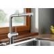 Смесител за кухня BLANCO LINUS -S -F, хром, с изтеглящ се душ, за пред прозорец