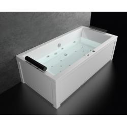 Хидромасажна вана БЕРЛИН ДУО ПРЕМИУМ ФЛАТ, правоъгълна, различни размери, с нагревател