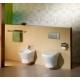 Стенна тоалетна чиния ROCA Nexo Rimless, скрито присъединяване, със седалка по избор