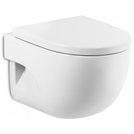 Стенна тоалетна чиния ROCA Meridian Compact, със седалка по избор