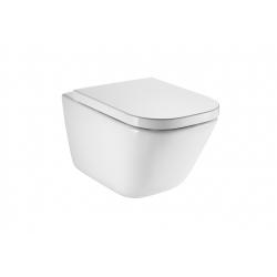Стенна тоалетна чиния ROCA The Gap Rimless, скрито присъединяване, със седалка по избор