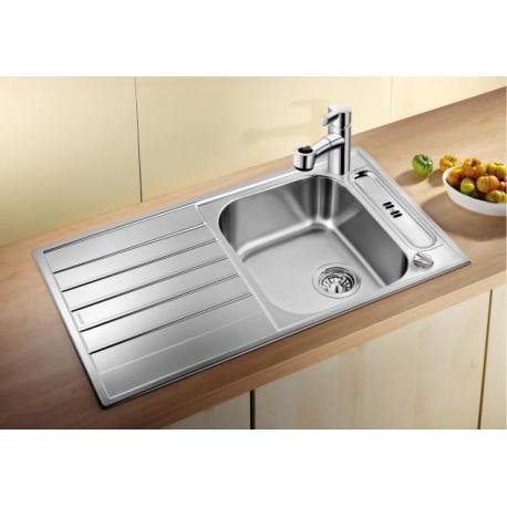Кухненска мивка BLANCO LIVIT 45S Centric от неръждаема стомана, с автоматичен сифон