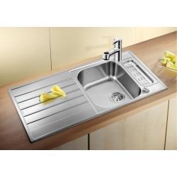 Кухненска мивка BLANCO LIVIT 5S Centric от неръждаема стомана, с автоматичен сифон