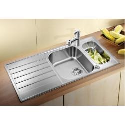 Кухненска мивка BLANCO LIVIT 6S Centric от неръждаема стомана, с автоматичен сифон и гевгир