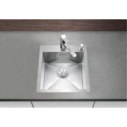 Кухненска мивка BLANCO ZEROX 400 IF/A от неръждаема стомана, за монтаж на равно с плота, полирана, с отвор в средата