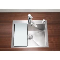 Кухненска мивка BLANCO ZEROX 500 IF/A от неръждаема стомана, за монтаж на равно с плота, полирана, с отвор в средата