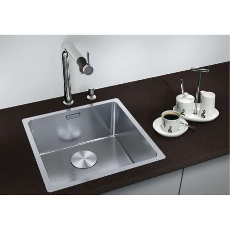Кухненска мивка BLANCO ANDANO 340 IF от неръждаема стомана, за монтаж на равно с плота, с автоматичен сифон