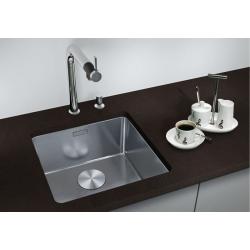 Кухненска мивка BLANCO ANDANO 340 U от неръждаема стомана, за монтаж под плот