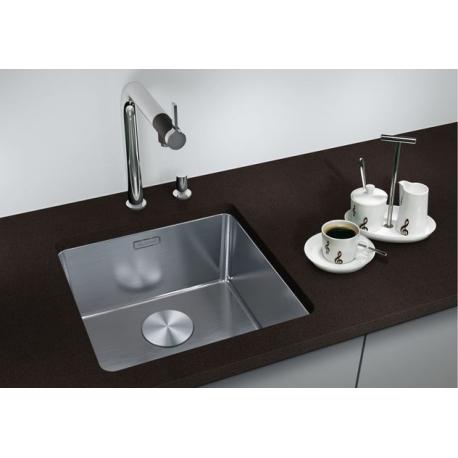 Кухненска мивка BLANCO ANDANO 340 U от неръждаема стомана, за монтаж под плот, с автоматичен сифон