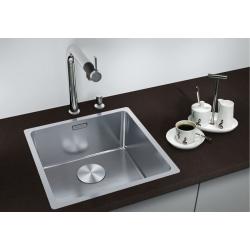 Кухненска мивка BLANCO ANDANO 400 IF от неръждаема стомана, за монтаж на равно с плота, с автоматичен сифон