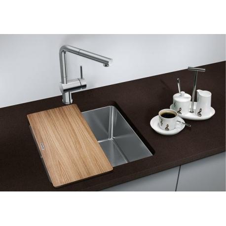 Кухненска мивка BLANCO ANDANO 400 U от неръждаема стомана, за монтаж под плот, с автоматичен сифон