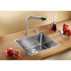Кухненска мивка BLANCO ANDANO 450 IF от неръждаема стомана, за монтаж на равно с плота, с автоматичен сифон
