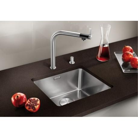 Кухненска мивка BLANCO ANDANO 450 U от неръждаема стомана, за монтаж под плот, с автоматичен сифон