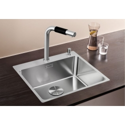 Кухненска мивка BLANCO ANDANO 500 IF/А от неръждаема стомана,  с автоматичен сифон, за монтаж на равно с плота, с платформа за смесител