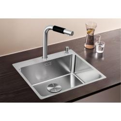 Кухненска мивка BLANCO ANDANO 500 IF/А от неръждаема стомана, за монтаж на равно с плота, с платформа за смесител