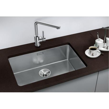 Кухненска мивка BLANCO ANDANO 500 U от неръждаема стомана, за монтаж под плот, с автоматичен сифон