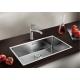 Кухненска мивка BLANCO ANDANO 700 IF от неръждаема стомана, за монтаж на равно с плота, с автоматичен сифон