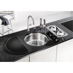Кухненска мивка BLANCO RONIS U от неръждаема стомана, за монтаж под плот, с аксесоари