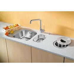 Кухненска мивка BLANCO SUPRA 160 U от неръждаема стомана, за монтаж под плот с гевгир